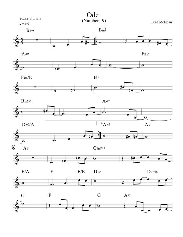 Ode (Number 19)