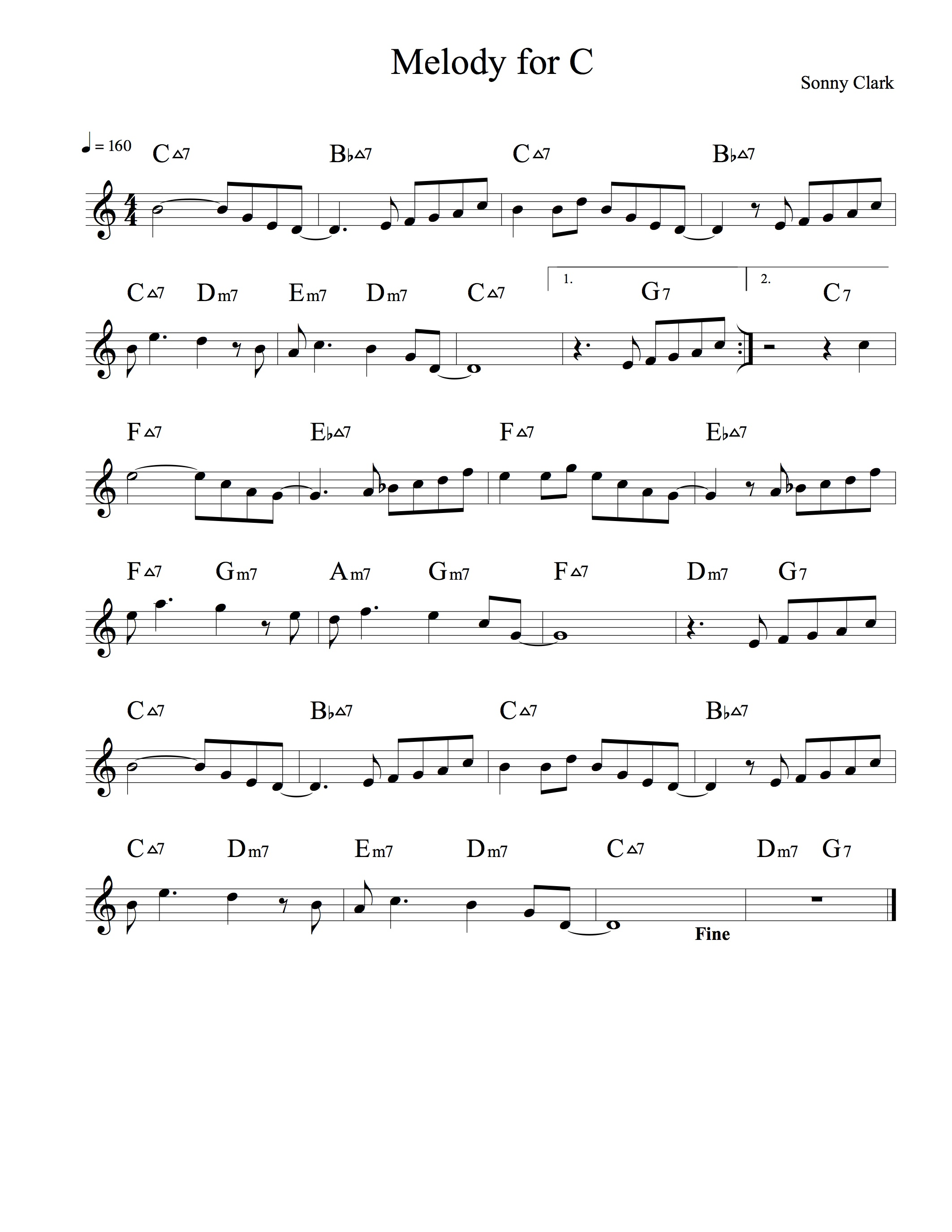 Melody for C | Noteheads