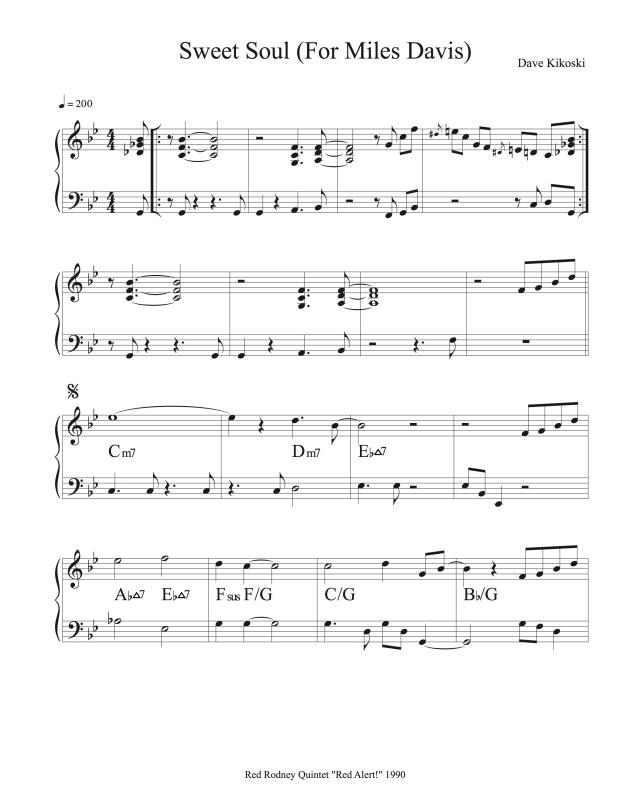 Sweet Soul (For Miles Davis)